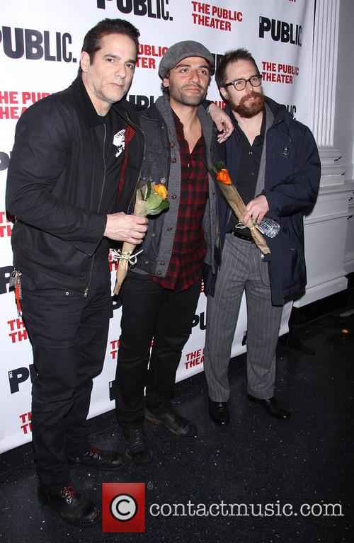 Yul Vazquez, Oscar Isaac and Sam Rockwell