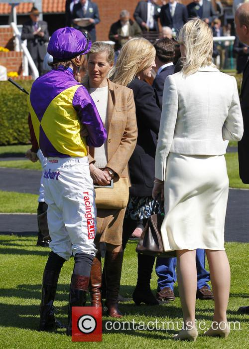 Sophie, Countess Of Wessex visits Newmarket Racecourse