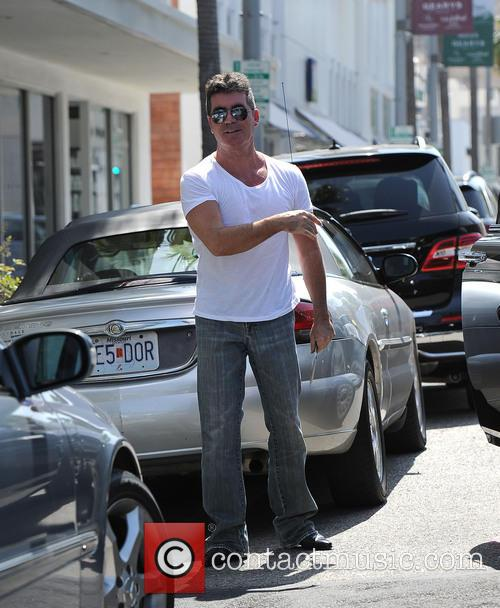 Simon Cowell out and about in Beverly Hills