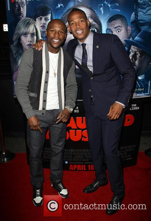 Floyd Mayweather Jr and Marlon Wayans 2