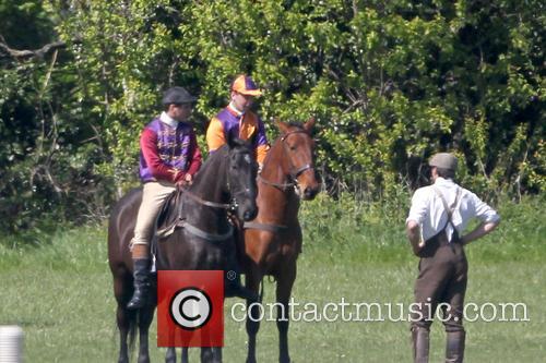 Suffragette film set horse race