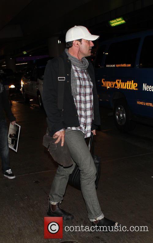 Jon Hamm at LAX