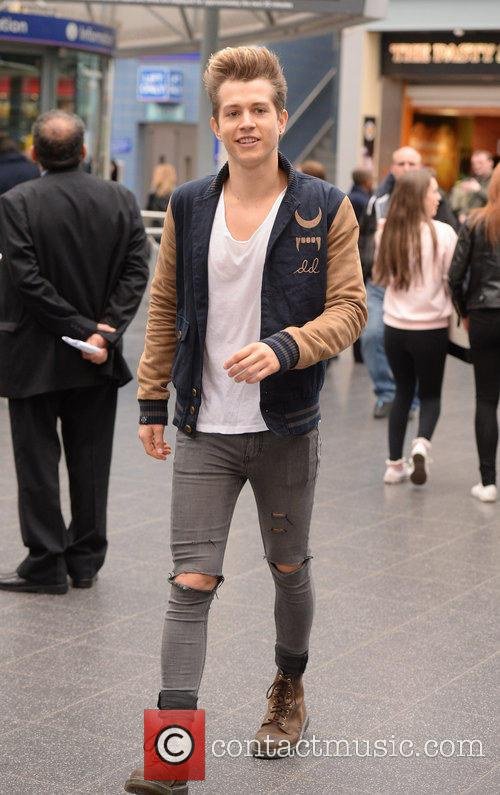 The Vamps  at Manchester Piccadilly train station