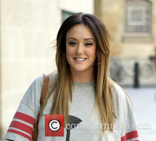 Charlotte Crosby arriving at BBC Radio 1