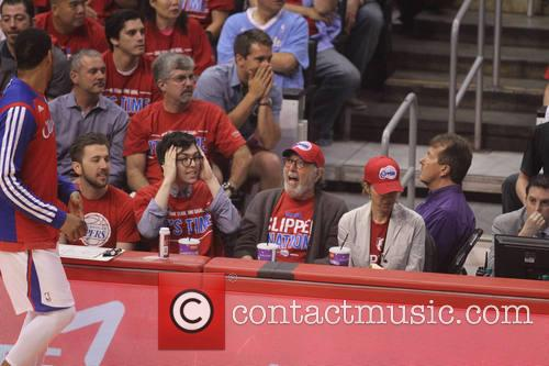 Celebrities at the Clippers playoff game