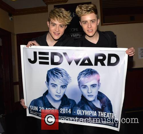 Jedward pose at The Olympia