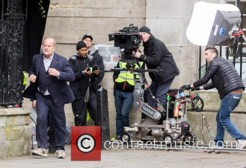On the set of 'Breaking the Bank'