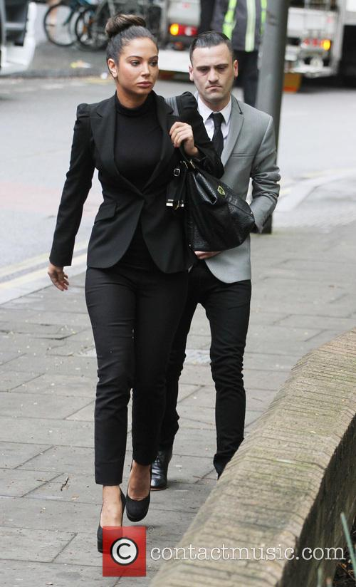 Tulisa Contostavlos outside Southwark Crown Court
