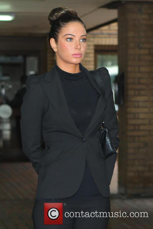 Tulisa Contostavlos leaves Southwark Crown Court