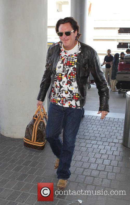 Michael Madsen arrives at LAX