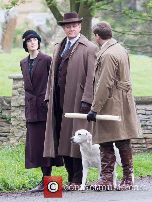 Michelle Dockery, Allen Leech and Hugh Bonneville 2