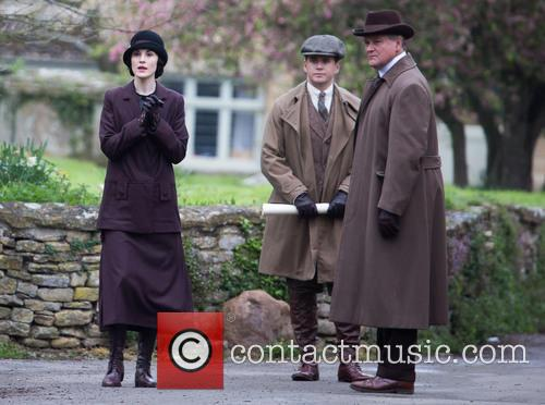 Michelle Dockery, Allen Leech and Hugh Bonneville 10