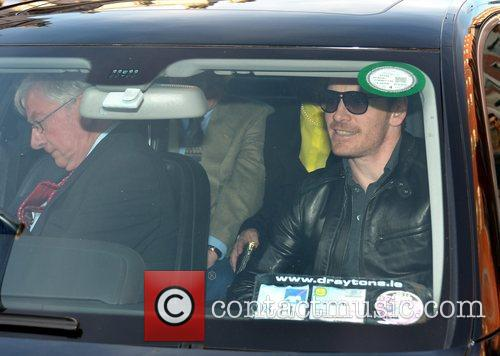 Michael Fassbender seen leaving his hotel