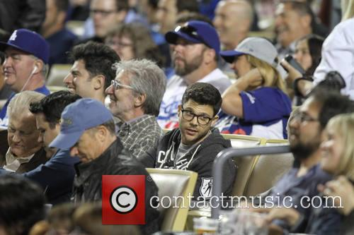 Celebs at the Dodgers game.