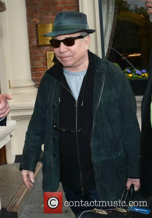 Paul Simon seen leaving The Shelbourne Hotel