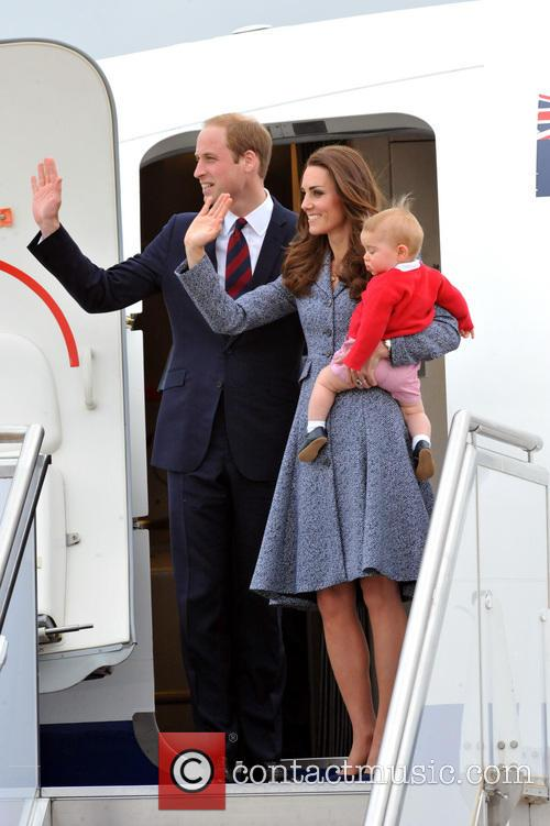 Prince William, Duke Of Cambridge, Catherine, Duchess Of Cambridge and Prince George Of Cambridge 2