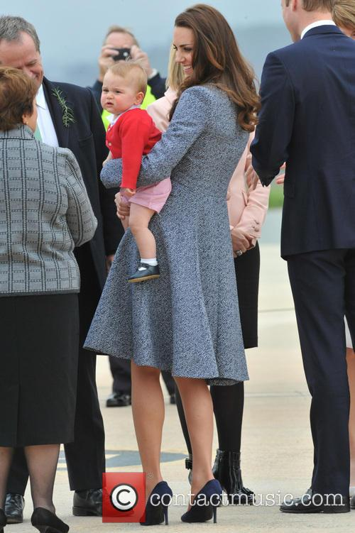 Prince William, Duke Of Cambridge, Catherine, Duchess Of Cambridge and Prince George Of Cambridge 1