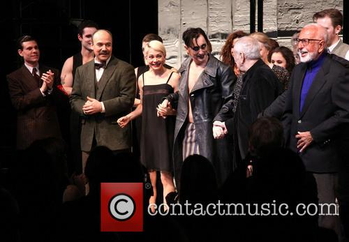 Aaron Krohn, Danny Burstein, Michelle Williams, Alan Cumming, John Kander and Joe Masteroff 9