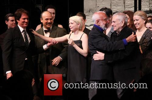 Aaron Krohn, Rob Marshall, Danny Burstein, Michelle Williams, Joe Masteroff, John Kander and Linda Emond 7