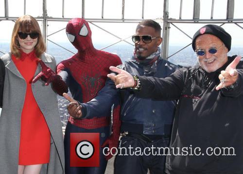 The Casts, Matthew Tolmach, Dane Dehaan, Emma Stone, Spider Man, Jamie Foxx and Avi Arad 3