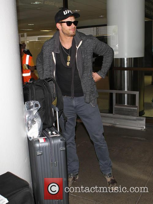 Kellan Lutz arrives at LAX