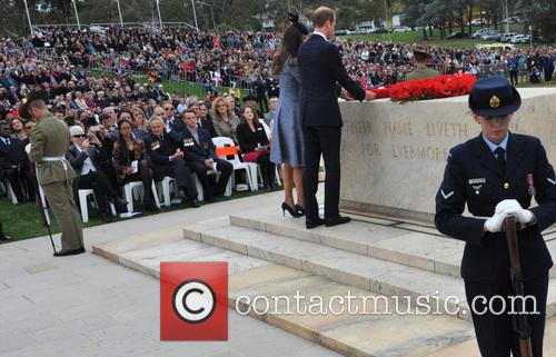 The Duke and Duchess of Cambridge attend the...