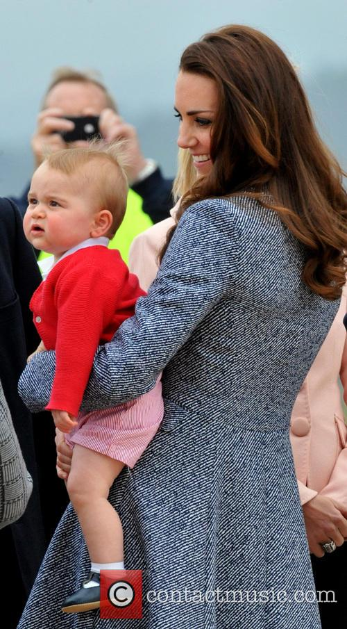 Catherine, Duchess Of Cambridge, Kate Middleton and Prince George 2