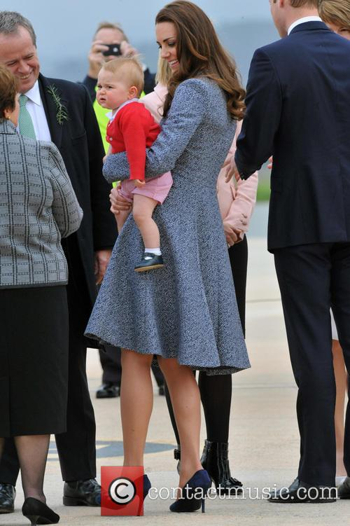 Catherine, Duchess Of Cambridge, Kate Middleton and Prince George 3
