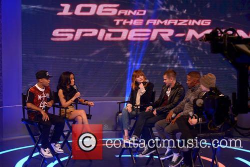 Bow Wow, Keshia Chante, Emma Stone, Andrew Garfield, Jamie Foxx and Dane Dehaan 2