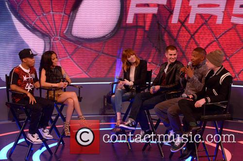 Bow Wow, Keshia Chante, Emma Stone, Andrew Garfield, Jamie Foxx and Dane Dehaan 1