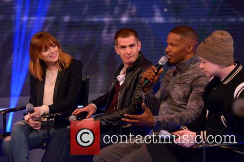 Emma Stone, Andrew Garfield, Jamie Foxx and Dane Dehaan 9