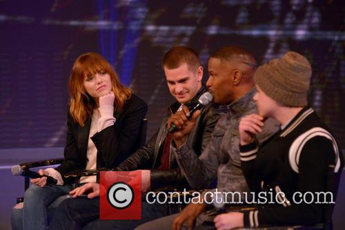 Emma Stone, Andrew Garfield, Jamie Foxx and Dane Dehaan 10