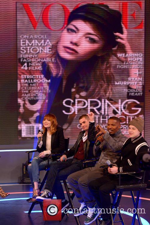 Emma Stone, Andrew Garfield, Jamie Foxx and Dane Dehaan 8