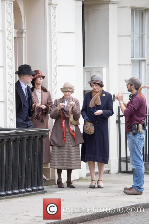 Filming of 'Downtown Abbey' in Central London