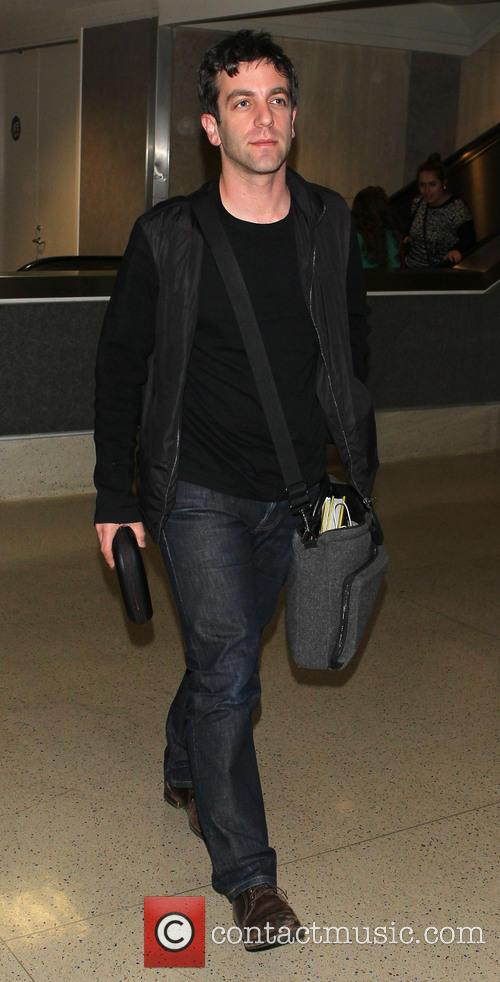B. J. Novak arrives at Los Angeles International...