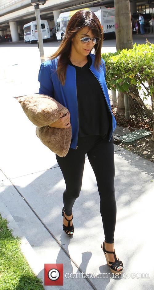 Eva Longoria arrives at Los Angeles International (LAX) airport