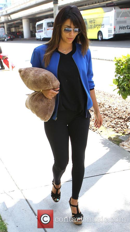 Eva Longoria arrives at Los Angeles International (LAX) airport