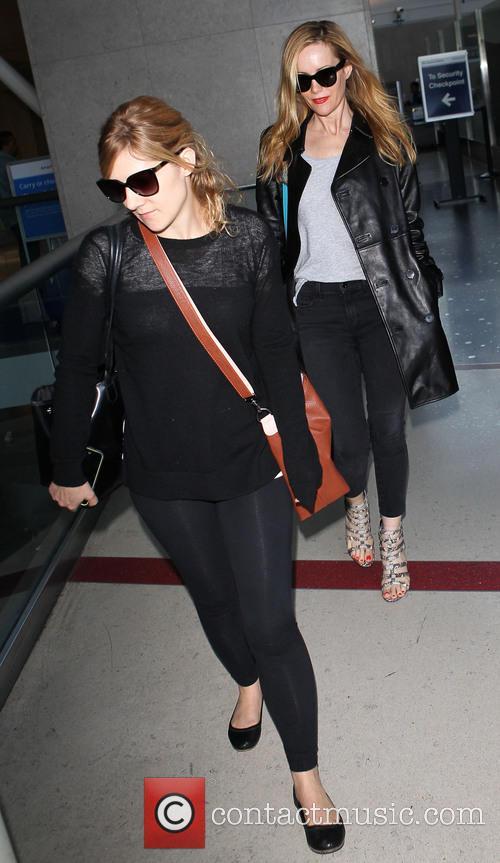Leslie Mann arrives at Los Angeles International (LAX)...