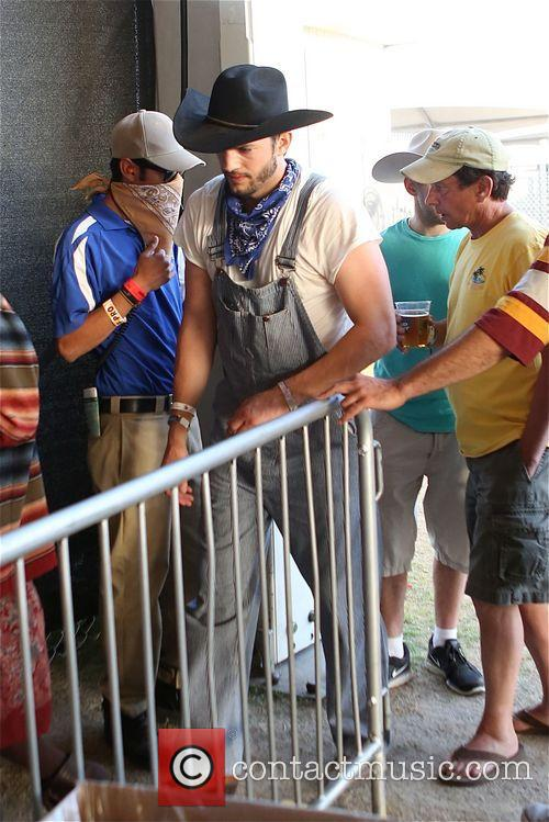 Ashton Kutcher and  Pregnant Mila Kunis at Stagecoach