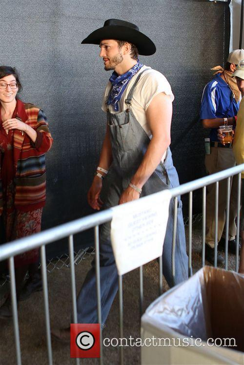 Ashton Kutcher and  Pregnant Mila Kunis at Stagecoach