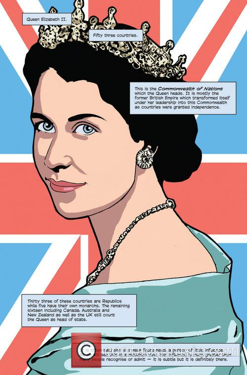 Female Force, Queen, England, Elizabeth Ii' Comic Book and Artwork