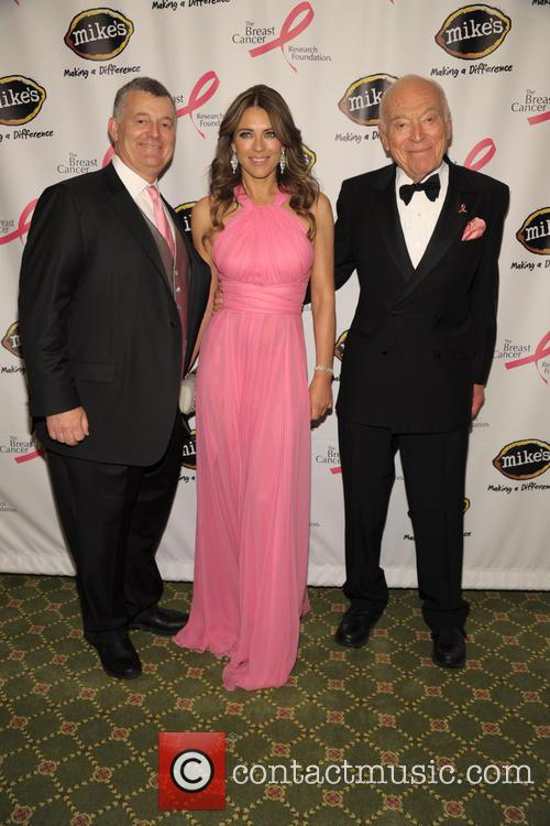 William Lauder, Elizabeth Hurley and Leonard Lauder 2