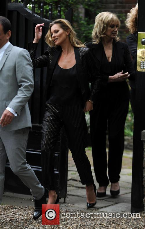 Kate Moss seen heading to the Topshop launch