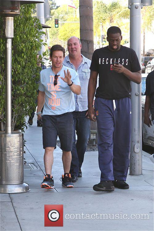 Mark Wahlberg leaves Ebaldi restaurant at Lunch