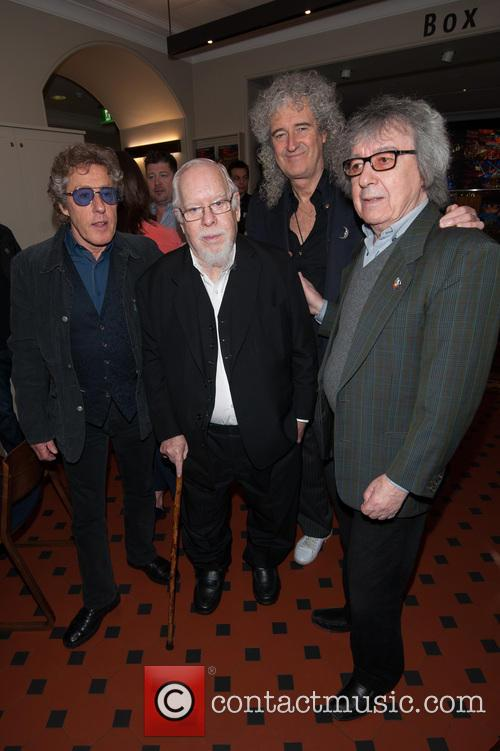 Bill Wyman, Brian May, Roger Daltrey and Sir Peter Blake