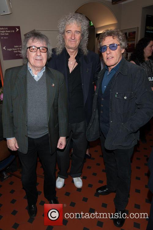 Bill Wyman, Brian May and Roger Daltrey 1