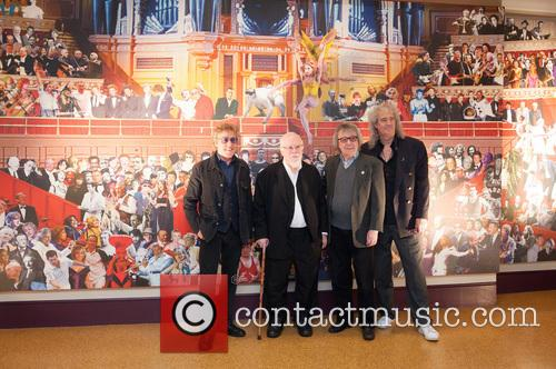 Roger Daltrey, Sir Peter Blake, Bill Wyman and Brian May 1