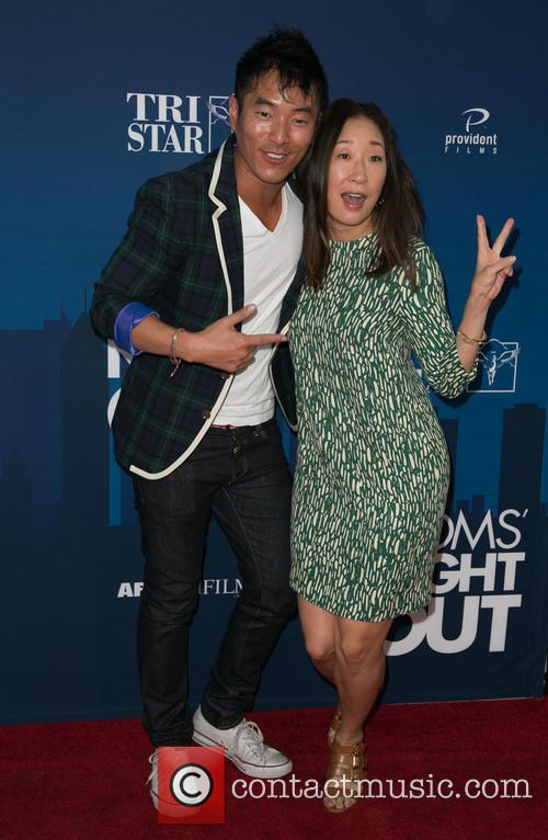 Leonardo Nam and Sandra Oh