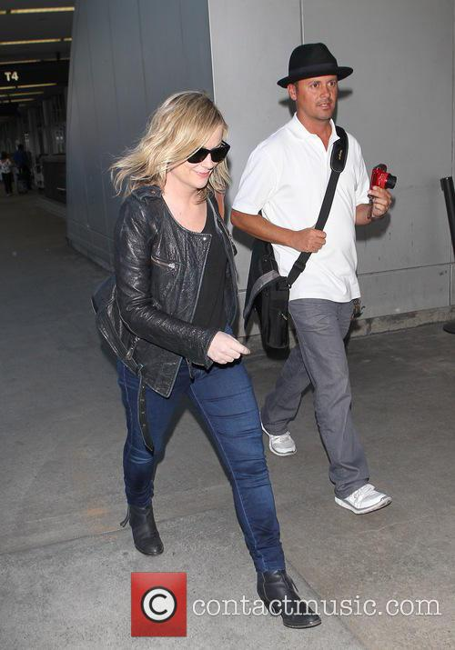 Amy Poehler at LAX