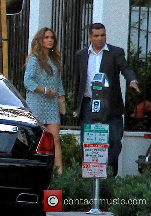 Jennifer Lopez arriving at Gracias Madre